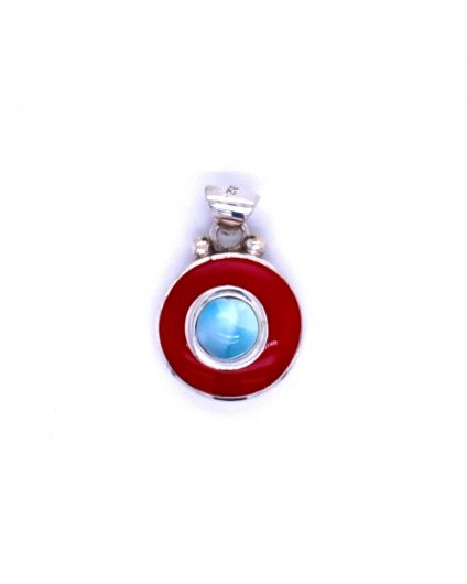 Dragon Single Larimar Resin Pendant