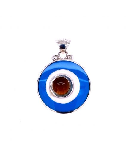 Dragon Amber Blue and White Resin Pendant
