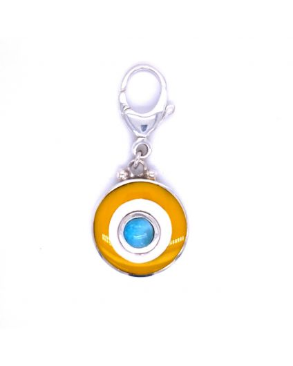 Dragon Pet Larimar Yellow and White Pendant