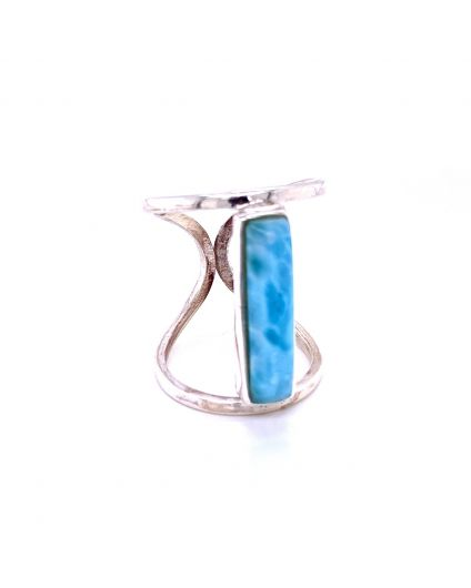 Recto Larimar Silver Ring