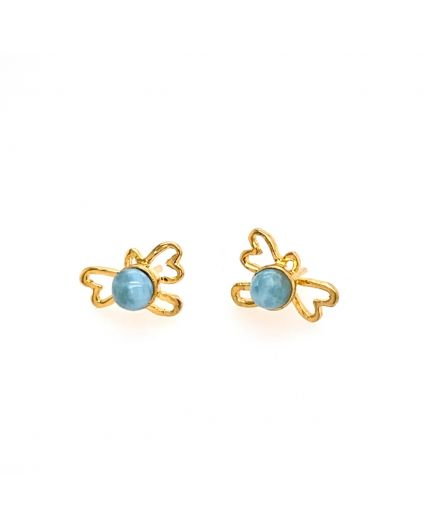Silueta Mini Larimar Earrings