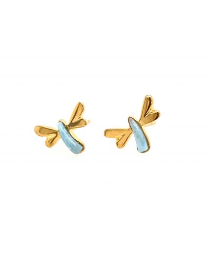 Sophia Larimar Dragonfly Mini Earrings