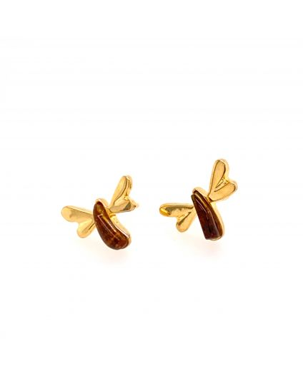 Sophia Mini Amber Earrings