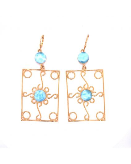 Auto Larimar Dorato Earrings