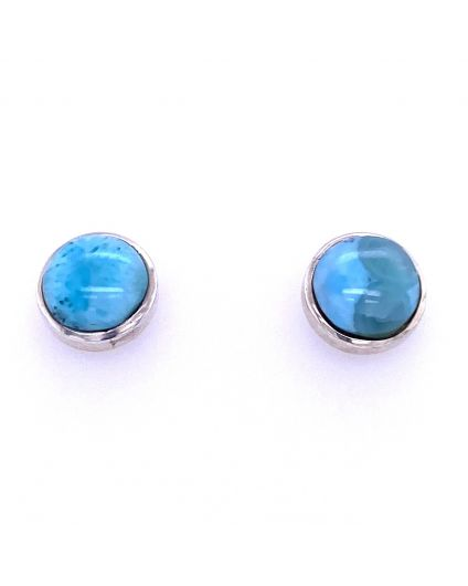 Redondo Larimar Silver Earrings