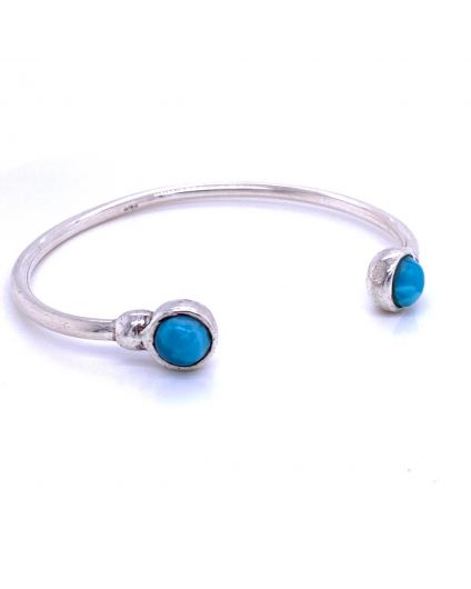 Redondo Larimar Silver Open Bangle