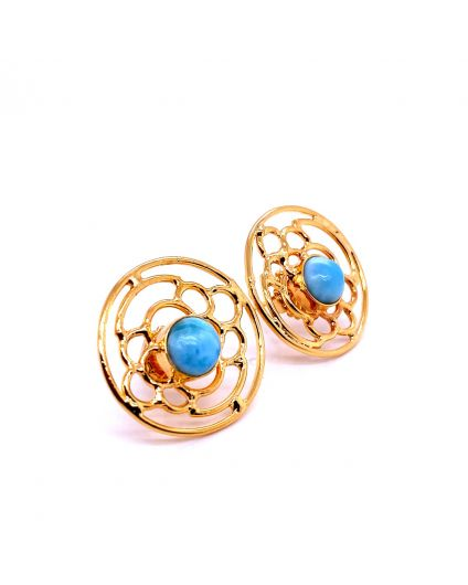 Auto Larimar Dorato Round Earrings