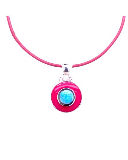 Dragon PinkLeather Necklace